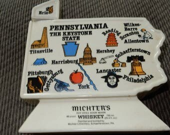 Whiskey Decanter Michters Pennsylvania Keystone State Collectible Beam Bottle Style