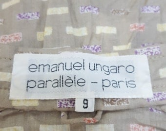 vintage 60s ,emanuel ungaro ,parallele paris , Vintage japan Blouse, Cotton blouse