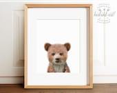 Baby bear cub print, Nursery art, Woodland animals, PRINTABLE art, Nursery decor, Animal art, Baby animals, Nursery wall art, Kids art, Cute