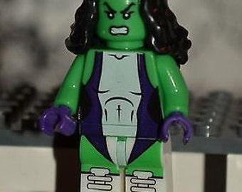 SHE-HULK Custom Minifigure 100% LEGO Compatible! Marvel Comics Character