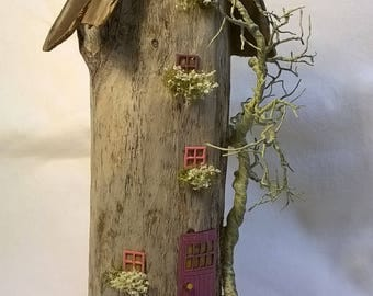 Driftwood House Art, Miniature  Fairy House