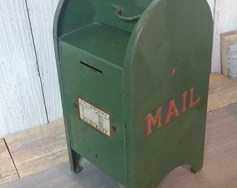 Vintage Miniature Mailbox Piggy Bank