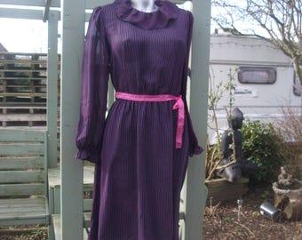 Vintage 1980's Gina Bacconi dress with pink ribbon belt