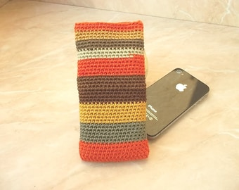 Crochet mobile phone cover Lacy crochet smartphone case Crochet phone cover Crochet case purse Crochet wallet Textile cover iPhone cover