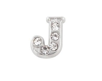 Alphabet Letter Initial J Floating Charms
