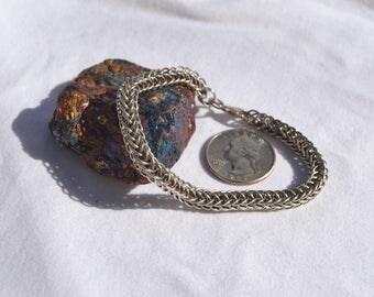 Jen's Pind Linkage Sterling Silver and Titanium Bracelet