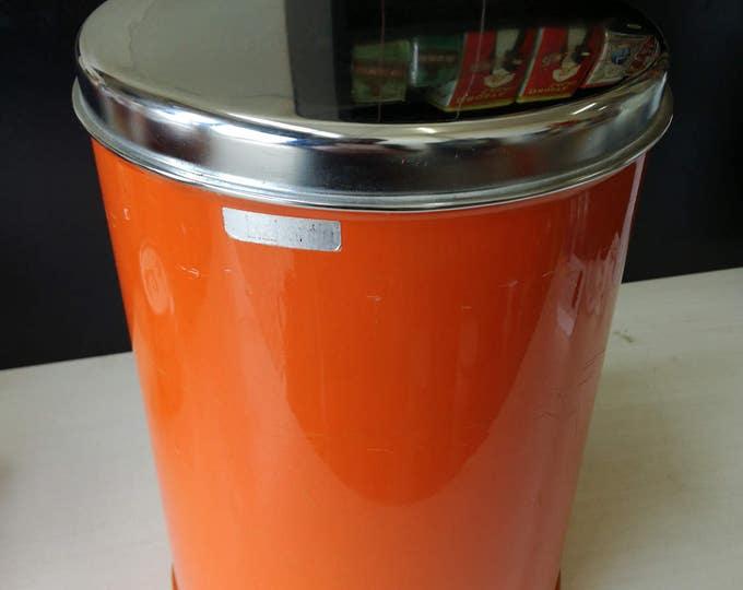Large Orange Brabantia tin, canister