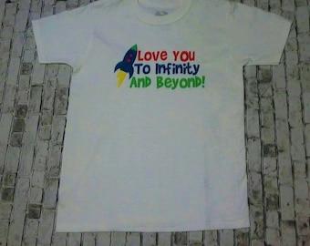 Valentine shirts, boys Valentine's shirts, kids Valentine's Day shirts, I love you to infinity and beyond shirt, boys shirts, boys clothes