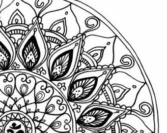 Om Mandala - Drawing - Digital  #0003