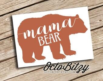 Mama Bear, Man Cub, Mom Life, Vinyl Decal Sticker