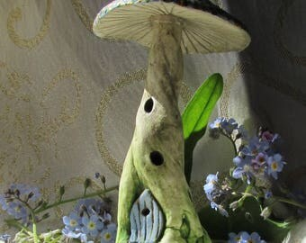 Fairy Pixie House Handmade Ornament. For indoor or outside in a fairy garden!