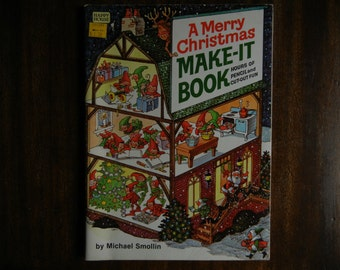 A Merry Christmas Make-It Book by Michael Smollin ~ 1981 ~ New