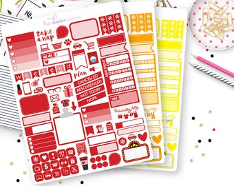 79 Plan by Color Planner Stickers Sampler for Erin Condren Life Planner, Plum Paper or Mambi Happy Planner