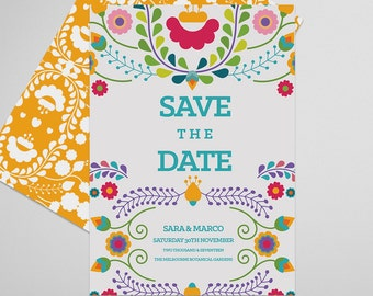 Mexican Save the Date Printable, Fiesta, Save the Date Invitation, Wedding Invite, Engagement Announcement, Engagement Invitation