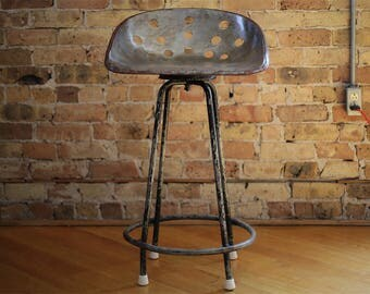 vintage knoedler tractor seat stool