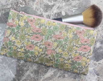 Liberty Print Make Up Bag/Poppy & Daisy Tana Lawn Cosmetic pouch/Liberty Print Pencil Case/Liberty Print Zip pouch in a choice of 20 designs