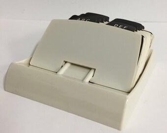 Desk Top Rolodex Address File; Vintage Address File; Vintage Rolodex