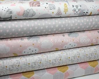 SWEET DREAMS by Maude Asbury for Blend Fabrics - Pink Colorway Fat Quarter Bundle - 5 Prints