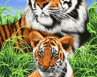 Tigers Beach Towel