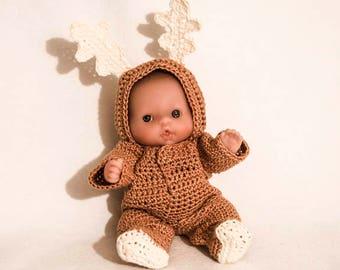 traje de reno para el beb de itty bitty por lotes berenguer mueca de amor