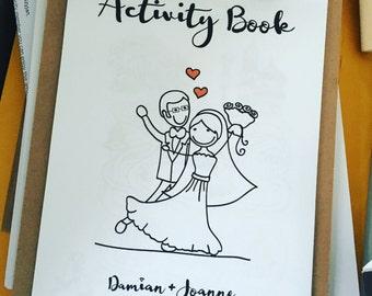 Printable wedding activity book