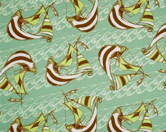 Riddles & Rhymes Sky Sail  Cotton Quilt Fabric Tina Givens For Free Spirit     By the Yard