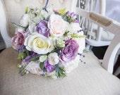 Pastel silk wedding bouqu...
