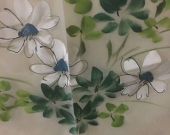 1950's Hand Painted Curtain and Valance