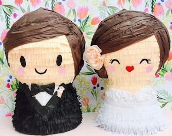Bride and Groom Wedding Pinatas