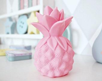 Lamp LED Pineapple vanilla, pink, mint