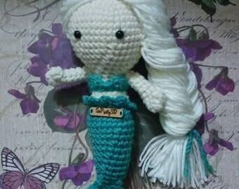 Crocheted Elsa (Frozen) Inspired Mermaid Amigurumi! FREE SHIPPING too!
