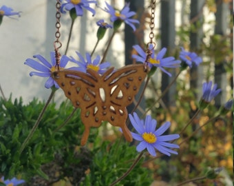 Wooden Butterfly Necklace