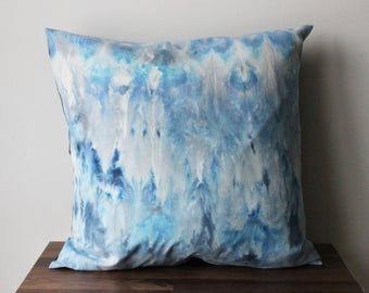Hand Dyed Pillow in Shades of Blue