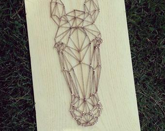 Geometric Horse String Art