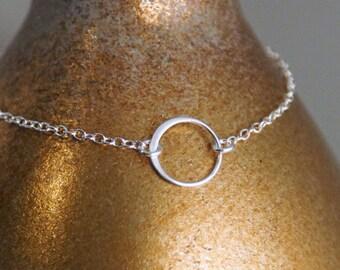 Dainty Bracelet / Dainty Open Circle Bracelet / Layered Bracelet / 14K Gold Filled or Sterling Silver Bracelet / Circle of Life Bracelet