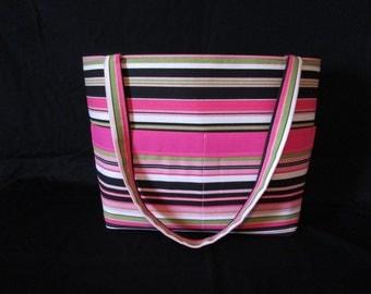 pink and green  Diaper Bag