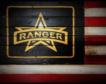 Army Rangers, US Army Flag, Army Rangers Sign, American Flag, Military Flag, Wood American Flag, American Flag Sign, Weathered American Flag