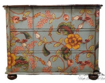 GUILD MASTER 66″ Floral Painted Chest / Dresser