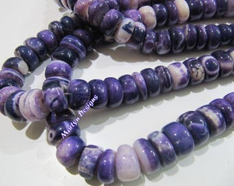 Beautiful Purple Opal 13-14mm Plain Beads , Natural Peruvian Purple Opal Beads , Strand 13 inches long , Semi Precious Gemstone Beads.