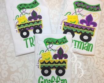 Mardi Gras Shirt, Boys Mardi Gras Shirt, Mardi Gra, Personalized Mardi Gras, Kids Mardi gras Shirt, Monogram Mardi Gras, Mardi Gras Applique