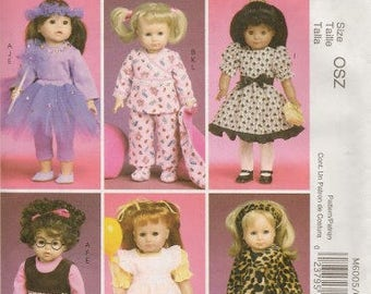 18 Inch Doll Clothes Pattern,  New McCalls Pattern 6005