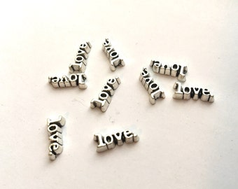 """Love Charm - Floating """"love."""" Floating Charm for glass lockets"""
