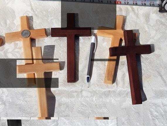 Wall mount cross