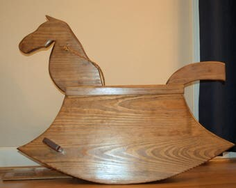 Handmade Wood Rocking Horse