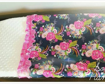 Two Toned Changing Pad Cover (Girl)