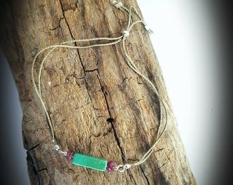 The friendship-friendship - silk and natural stone bracelet