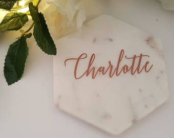 DIY Bridal Party Glass Decal sticker - Ideal for Marble Coaster Decals - 2 styles to choose from