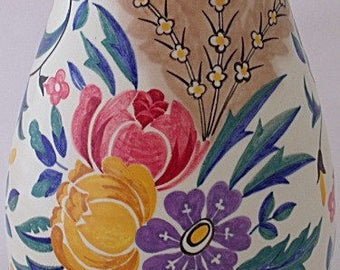Large Poole Pottery Vase In The ZW Pattern By Truda Carter - Art Deco