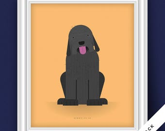 Labradoodle Dog Portrait (Illustrative Poster)