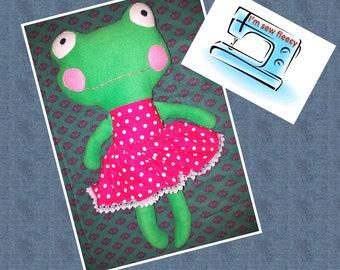 Mrs frog soft toy